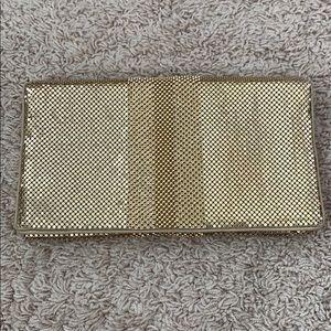 BCBG Maxazria, Gold Chain Metal Clutch
